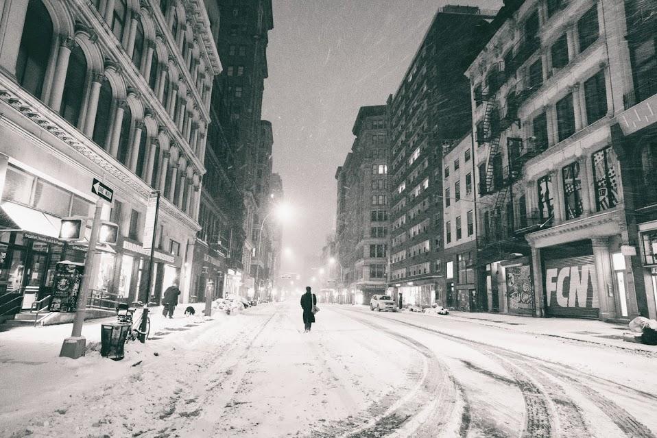 photograph of NYC at night